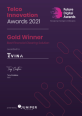 Juniper Research recognizes Evina as the gold winner in Security and Fraud Innovation
