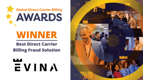 Evina confirmed as Best Direct Carrier Billing Fraud Solution provider for the second year in a row at industry summit